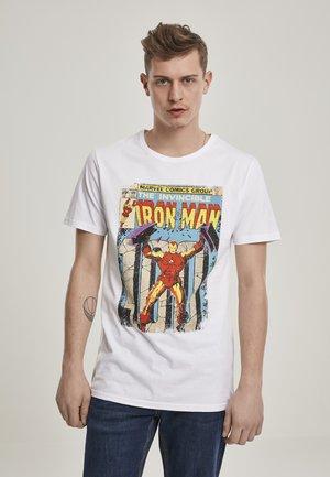IRON MAN COVER  - Print T-shirt - white