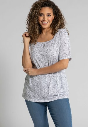 Print T-shirt - schneeweiß