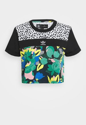 CROPPED TEE - T-shirt z nadrukiem - multi coloured