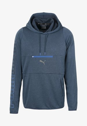 POWER HOODIE - Luvtröja - dark denim heather
