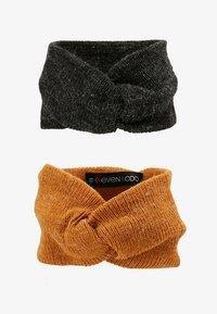 Even&Odd - 2 PACK - Ear warmers - mustard/black - 4