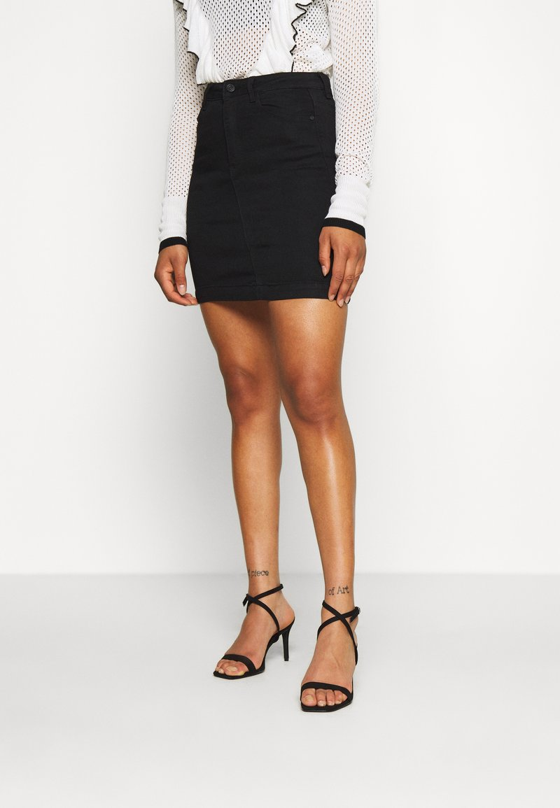 Missguided Tall - SUPER STRETCH SKIRT - Miniskjørt - black