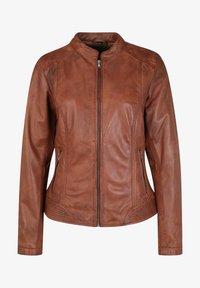 7eleven - Leather jacket - cognac - 3