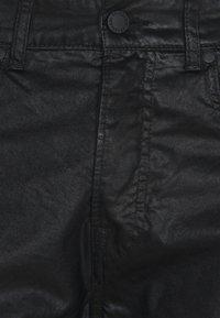 Trussardi - FIVE POCKET COATED - Straight leg jeans - black - 2