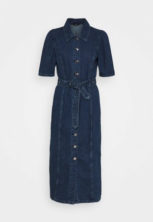 ONLCLARITY LIFE PUFF - Denim dress - dark blue denim