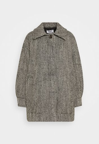 CARLI JACKET - Short coat - black/white
