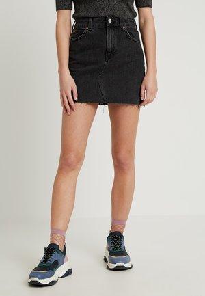 A-line skirt - black denim