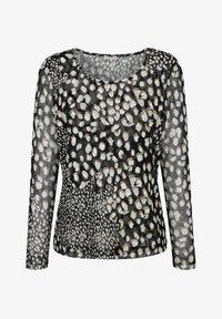 Alba Moda - Long sleeved top - schwarz,weiß,taupe - 4