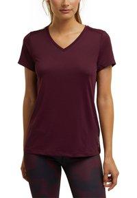 Esprit Sports - Basic T-shirt - bordeaux red - 4