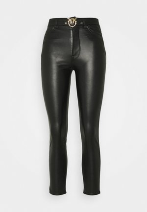 SUSAN TROUSERS - Tygbyxor - black