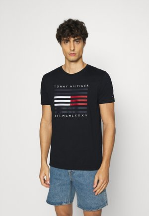 CORP FLAG LINES TEE - Camiseta estampada - blue