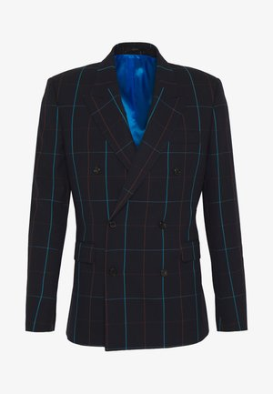 GENTS JACKET CHECKED - Suit jacket - dark blue