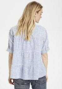 Cream - Button-down blouse - blue milkboy stripe - 2