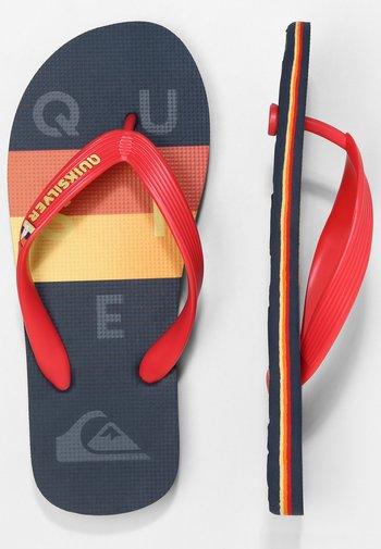 MOLOKAI WORD BLOCK - Pool shoes - black/red/blue
