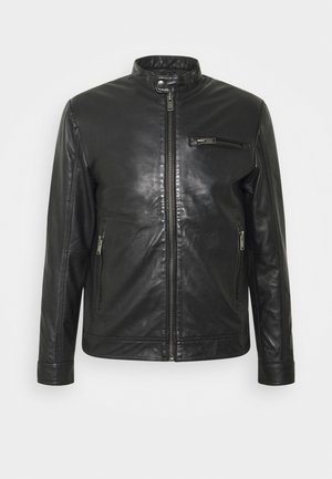 SLHICONIC CLASSIC - Leather jacket - black