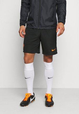 AS ROM SHORT - Sports shorts - black/safety orange