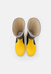 Aigle - LOLLY POP LABEL UNISEX - Holínky - indigo/jaune/blanc - 3