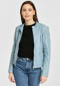 Gipsy - AELLY LAMAS - Leather jacket - light blue - 3