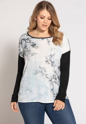 BRANCH PRINT - Long sleeved top - black