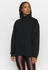 Filippa K - OVERSIZED BRUSHED  - Mikina - black - 0
