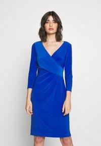 Lauren Ralph Lauren - MID WEIGHT DRESS - Shift dress - sapphire - 0