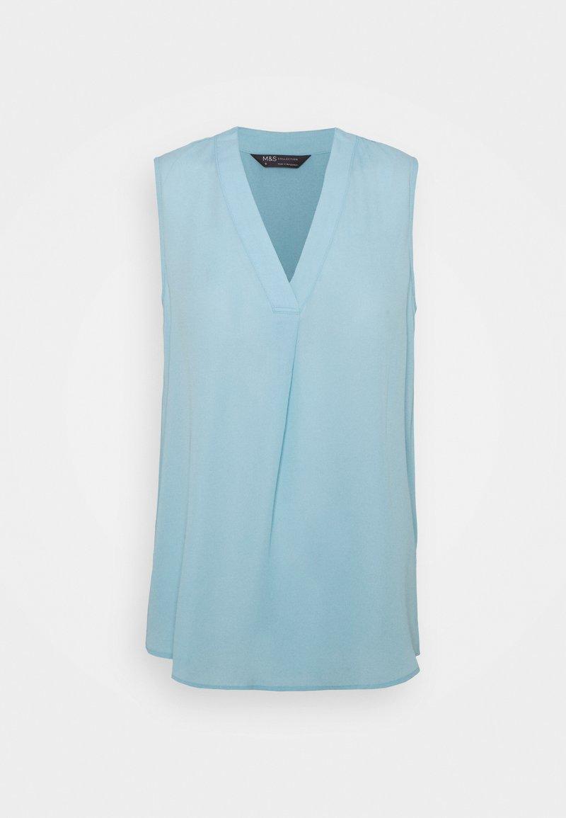 Marks & Spencer London - PLAIN SHELL - Topper - light blue