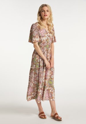 Maxi dress - weiss mehrfarbig