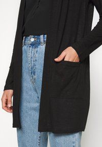 Pieces - PCMISSY MIDI CARDIGAN - Cardigan - black - 5
