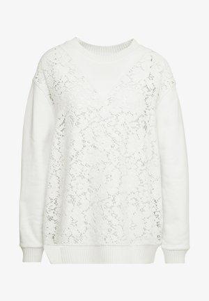 Sweatshirt - crystal white