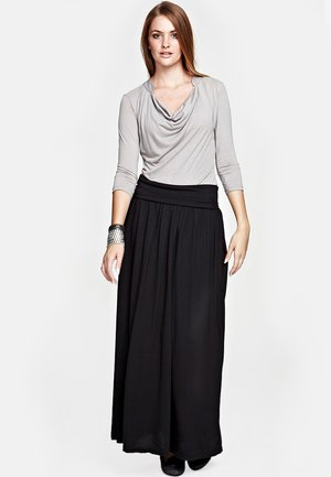 LUXURY - Maxi skirt - black