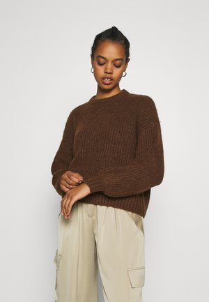 Strikpullover /Striktrøjer - brown