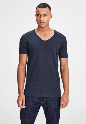 3 PACK V-NECK - Basic T-shirt - blue/blue/blue