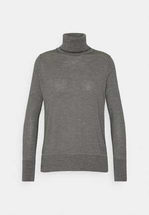 TNECK - Strickpullover - black/white