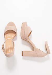 Anna Field - LEATHER HIGH HEELED SANDALS - High heeled sandals - nude - 3