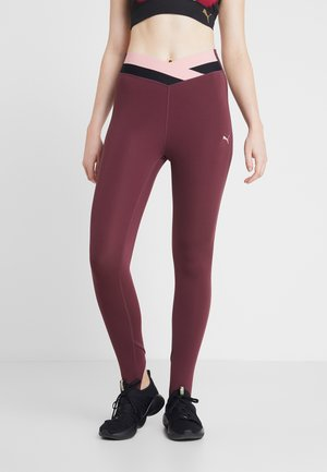 HIT FEEL IT - Leggings - vineyard wine
