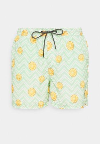 JJIBALI JJSWIMSHORTS FRUIT - Swimming shorts - green ash