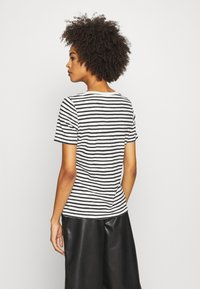 Marc O'Polo - SHORT SLEEVE ROUND NECK STRIPED - Print T-shirt - multi/black