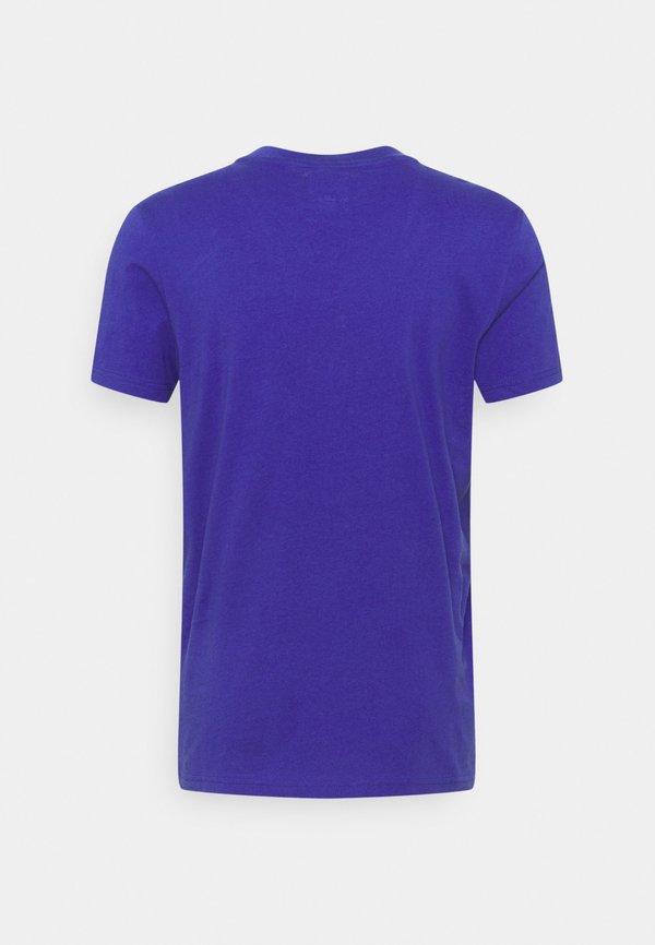 Redefined Rebel JUAN TEE UNISEX - T-shirt z nadrukiem - orient blue/niebieski Odzież Męska ZMYT