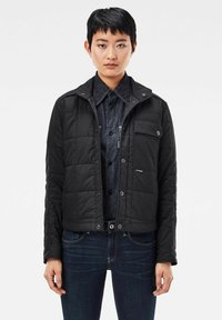 G-Star - QUILTED OVERSHIRT - Jas - black - 0