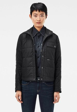 QUILTED OVERSHIRT - Light jacket - black