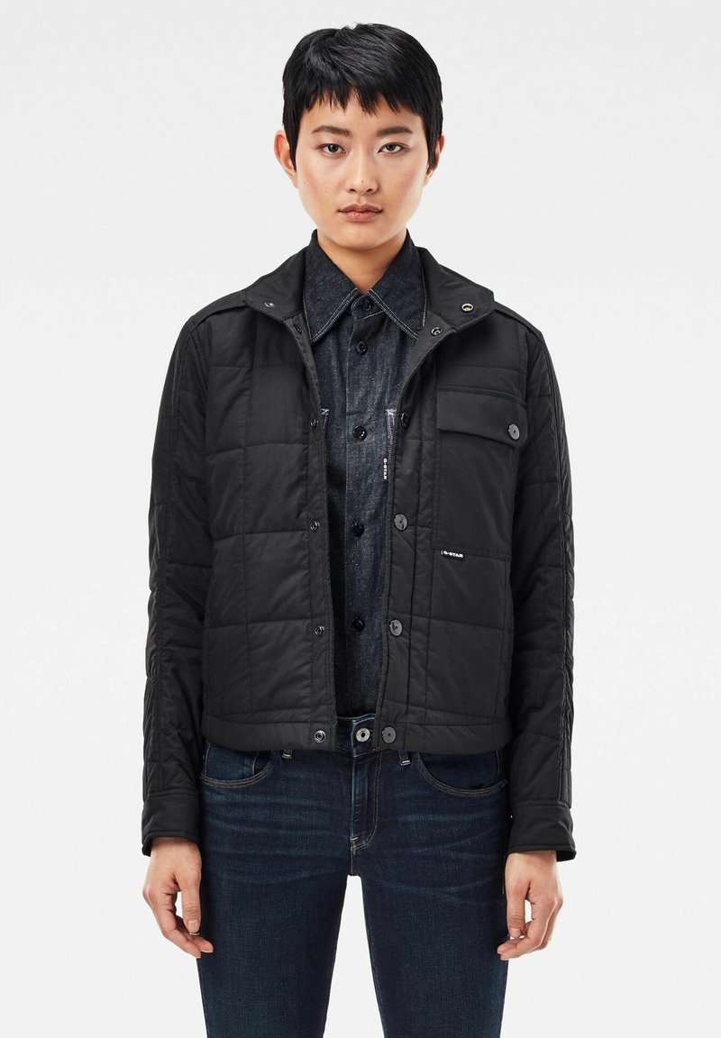 G-Star - QUILTED OVERSHIRT - Jas - black