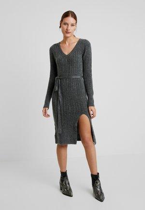 SIDE SLIT MIDI - Jumper dress - grey