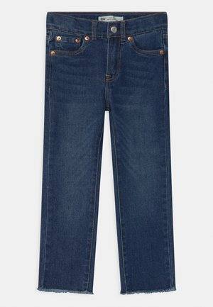 HIGH RISE ANKLE STRAIGHT - Straight leg jeans - blue denim