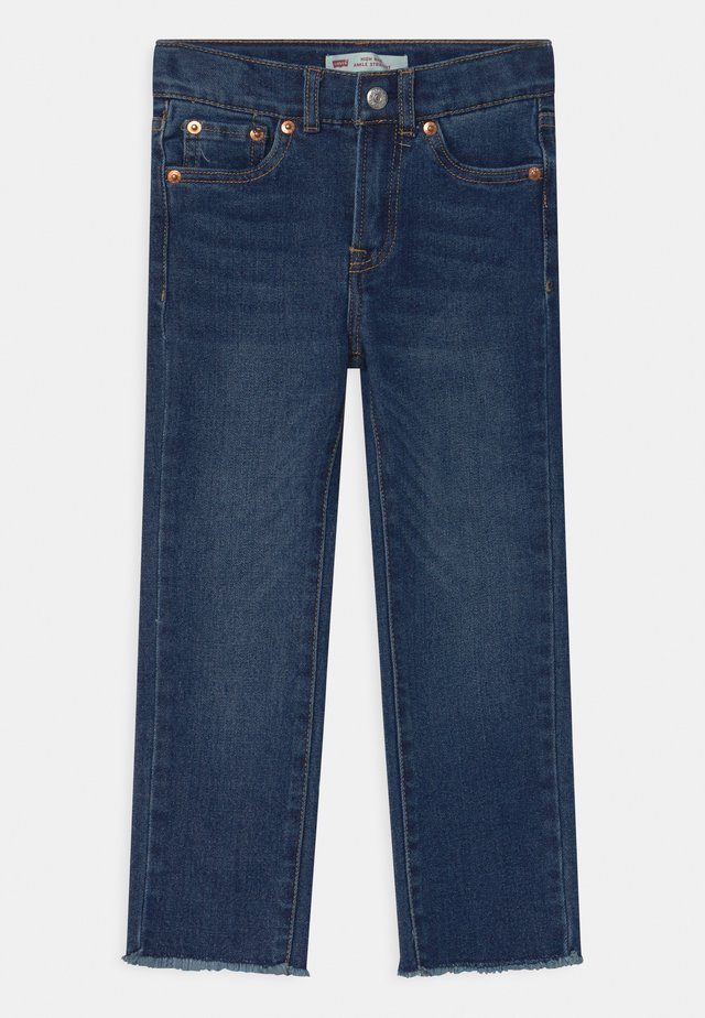HIGH RISE ANKLE STRAIGHT - Jeans a sigaretta - blue denim