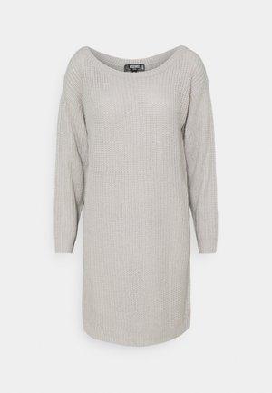 AYVAN OFF SHOULDER JUMPER DRESS - Gebreide jurk - light grey