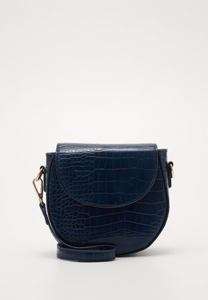 PCSAFARI CROSS BODY  - Across body bag - navy blazer/gold