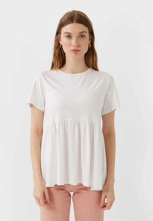 BASIC-PEPLUM - Print T-shirt - white