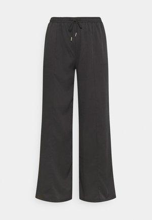 WIDE LEG CASUAL TROUSER - Trousers - black