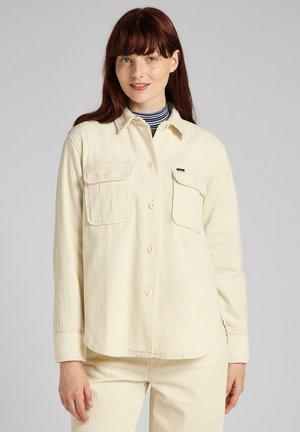 OVERSHIRT - Button-down blouse - shark tooth