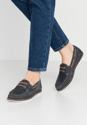 LACE-UP - Boat shoes - navy